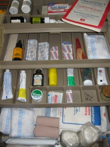 First Aid in Tool Chest